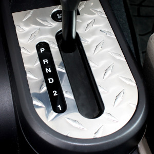 Automatic Shifter Bezel Diamond plate
