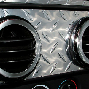 Center Vent area Highlight DPlate with Vent Bezel covers chrome