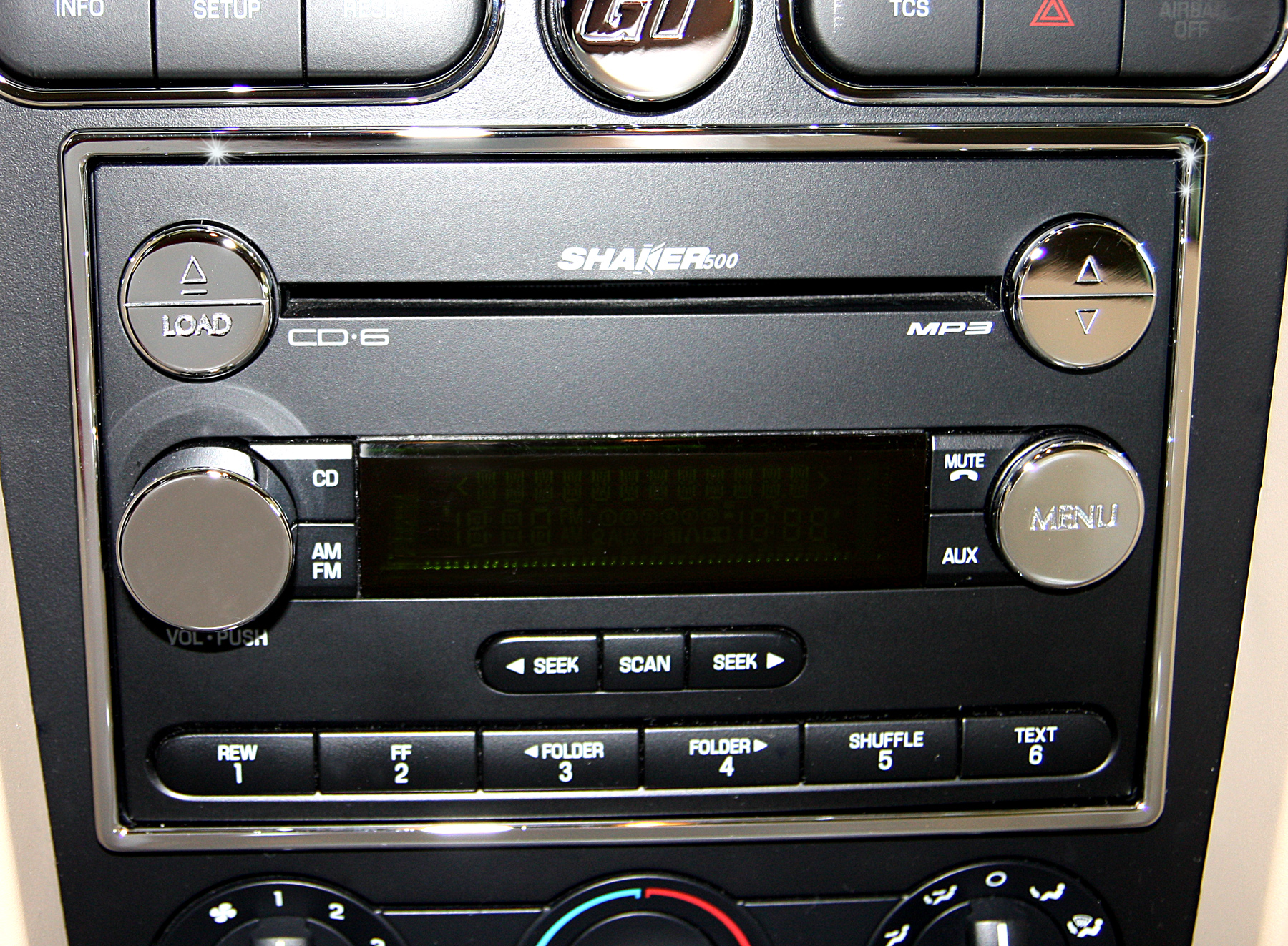 Radio Surround Highlight With Other Chrome Pieces