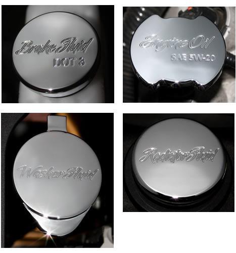 CLSK-SCPT-4PCS-II 2011-2014 Mustang Four Underhood Cap Chrome Covers Bundle