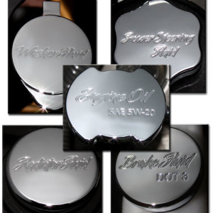 CLSK-SCPT-ALL5-II Action Artistry Ford Mustang Chrome Cap Covers Package