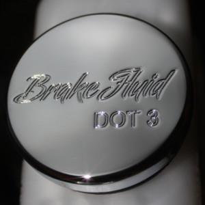CLSK-SCPT-BRK-II Mustang Brake Fluid Chrome Cover Classic Script Style