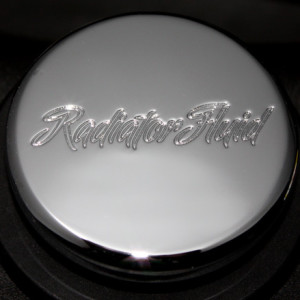 "CLSK-SCPT-RAD-II Mustang / F-150 Radiator Cap Chrome Cover ""Classic Script Style"""