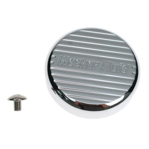 WSH-CV-CRM-850 Action Artistry Windshield Washer Reservoir Cap Cover Billet Aluminum Chrome 2005-2009