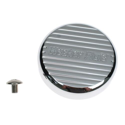 WSH-CV-CRM-850 Action Artistry Windshield Washer Reservoir Cap Cover Billet Aluminum Chrome 2005-2009